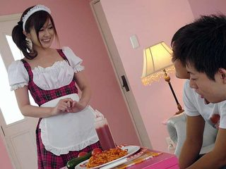 Gorgeous maid is doing a great job every time