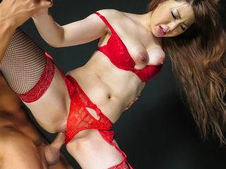 Red lingerie xxx
