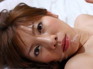 Huge-chested Aki Yatou gets spunk in hatch after fuck-fest